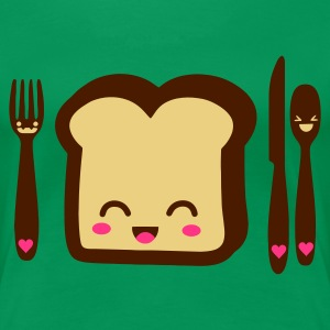 breakfast friends T-Shirts - Frauen Premium T-Shirt