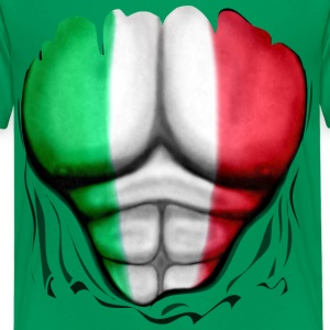 Mexico Flag Ripped Muscles, six pack, chest t-shir - Teenage Premium T-Shirt