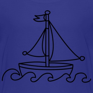 Blue Sailboat Kids' Shirts - Teenage Premium T-Shirt