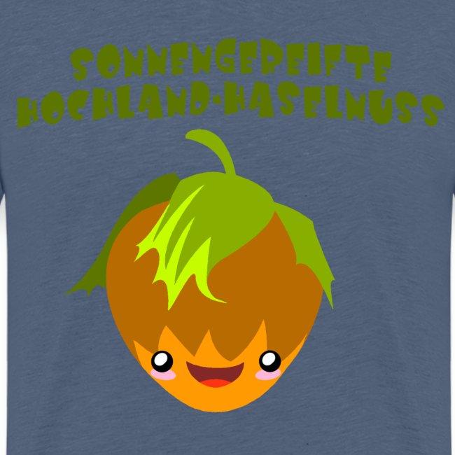 Sonnengereifte Hochland-Haselnuss- Kindershirt
