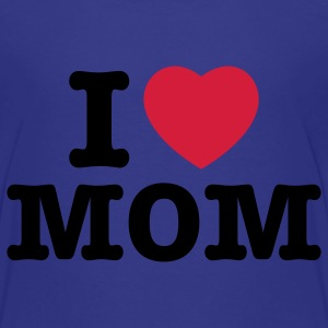 i love mom - i heart mom - i liebe mutti mama mutter Kinder T-Shirts - Teenager Premium T-Shirt