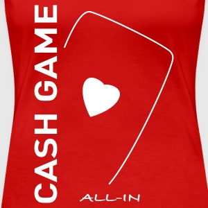 Cash Game Poker - T-shirt Premium Femme
