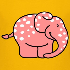 Pink elephant with polka dots Kids' Shirts - Teenage Premium T-Shirt