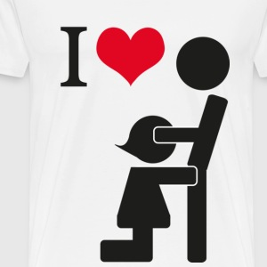I love Blowjob - Herre premium T-shirt