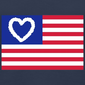 Love USA big | Heart | Herz | i love | Liebe T-Shirts - Frauen Premium T-Shirt