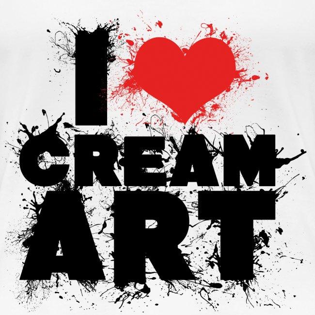 T-shirt I LOVE CREAMART splash Femme cintré