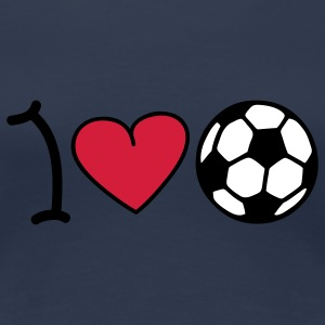 I love football T-shirts - Dame premium T-shirt