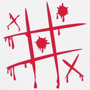 'tic tac toe' Standard T-skjorte for menn - T-skjorte for menn
