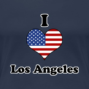 I love Los Angeles T-skjorter - Premium T-skjorte for kvinner