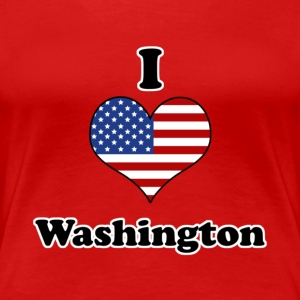 I love Washington T-shirts - Premium-T-shirt dam