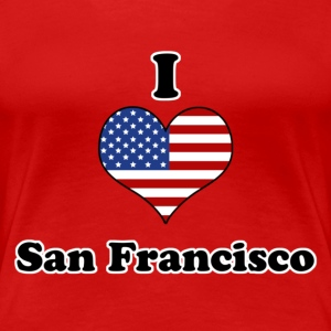 I love San Francisco T-skjorter - Premium T-skjorte for kvinner