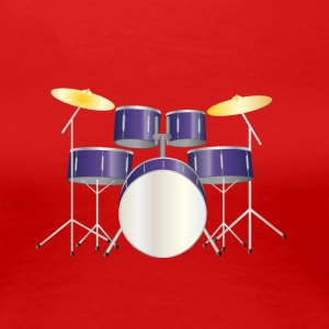 drums purple T-Shirts - Frauen Premium T-Shirt