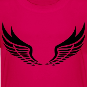 Flügel, Wings black - Teenager Premium T-Shirt
