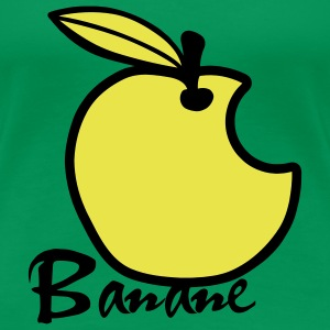 Mela Banana / Apple Artwork T-shirt - Maglietta Premium da donna