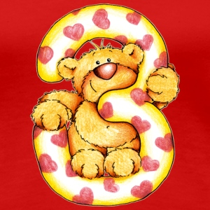 Sweet little bear and the 3 T-shirts - Premium-T-shirt dam