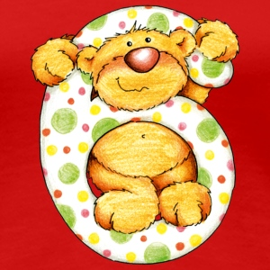Sweet little bear and the 6 T-shirts - Vrouwen Premium T-shirt