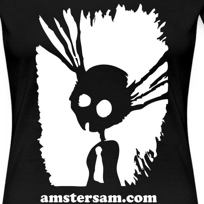 Women's Girlie Shirt 'Suicide Bunny' Black/White