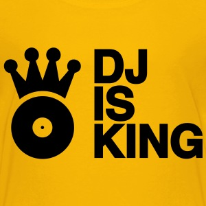 DJ is King Plattenspieler Turntable Schallplatte Schallplattenspieler Vinyl Discjockey club musik so Kinder T-Shirts - Teenager Premium T-Shirt