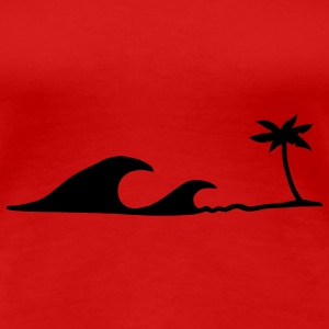 Waves on the Beach, waves on the beach under palm trees T-Shirts - Women's Premium T-Shirt