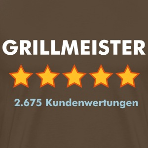 Grillmeister - RATE YOURSELF with 5 STARS - Männer Premium T-Shirt