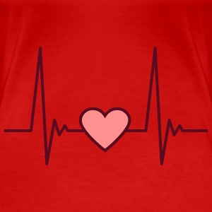 heart_pulse_2c T-Shirts - Frauen Premium T-Shirt