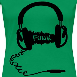 Headphones Audio Wave Design: Funk Musik T-Shirts - Women's Premium T-Shirt