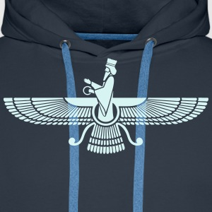 Faravahar, Zarathustra, Symbol of Higher Spirit Hoodies & Sweatshirts - Men's Premium Hoodie