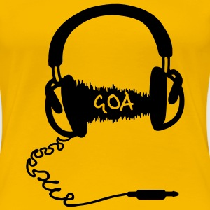 Headphones Audio Wave Motif: GOA  T-Shirts - Women's Premium T-Shirt