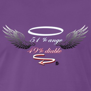tshirt 51% anges 49% diable by customstyle - T-shirt Premium Homme