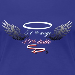 tshirt 51% anges 49% diable by customstyle - T-shirt Premium Femme