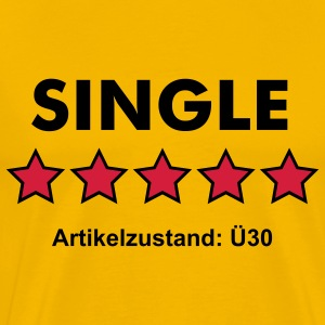 SINGLE - RATE YOURSELF with 5 STARS - Männer Premium T-Shirt