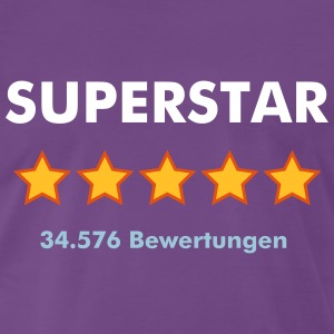 SUPERSTAR - RATE YOURSELF with 5 STARS - Männer Premium T-Shirt