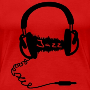 Headphones Audio Wave Motif: Jazz music Audiophile  T-Shirts - Women's Premium T-Shirt