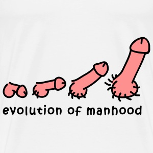 evolution_of_manhood_2c T-skjorter - Premium T-skjorte for menn