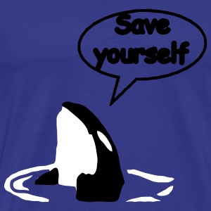 Save Yourself Rettet die Wale. T-Shirts - Männer Premium T-Shirt