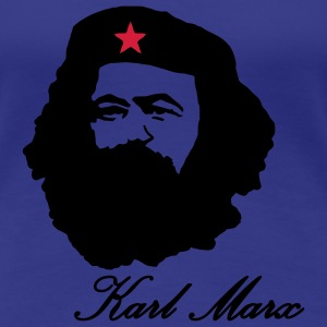 Karl Marx portrait with Beret  T-Shirts - Women's Premium T-Shirt