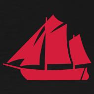 Motiv ~ Zeesboot Silhouette auf dunkel
