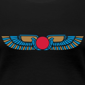 Egypt Sun Disk, Wings, symbol of protection T-skjorter - Premium T-skjorte for kvinner