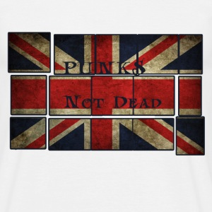 Punks Not Dead on the English flag.  T-Shirts - Men's T-Shirt