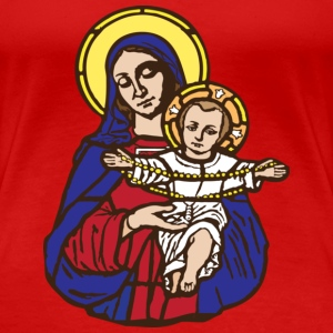 Mary and Jesus T-Shirts - Camiseta premium mujer