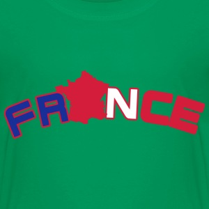 France, Freankreich, flag French flag and map Kids' Shirts - Teenage Premium T-Shirt