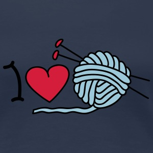 I love needlework T-Shirts - Frauen Premium T-Shirt