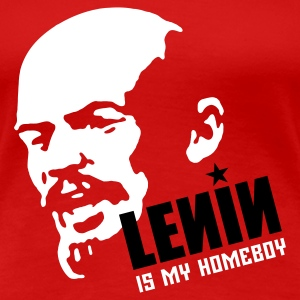 Lenin is my Homeboy (in weiß auf rot) T-Shirts - Frauen Premium T-Shirt