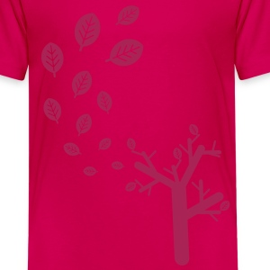 Herfst Bladeren in de wind Kinder shirts - Teenager Premium T-shirt