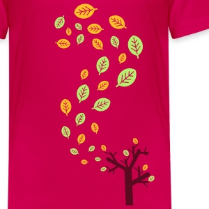 Herfstbladeren in de wind - 3 kleuren Kinder shirts - Teenager Premium T-shirt