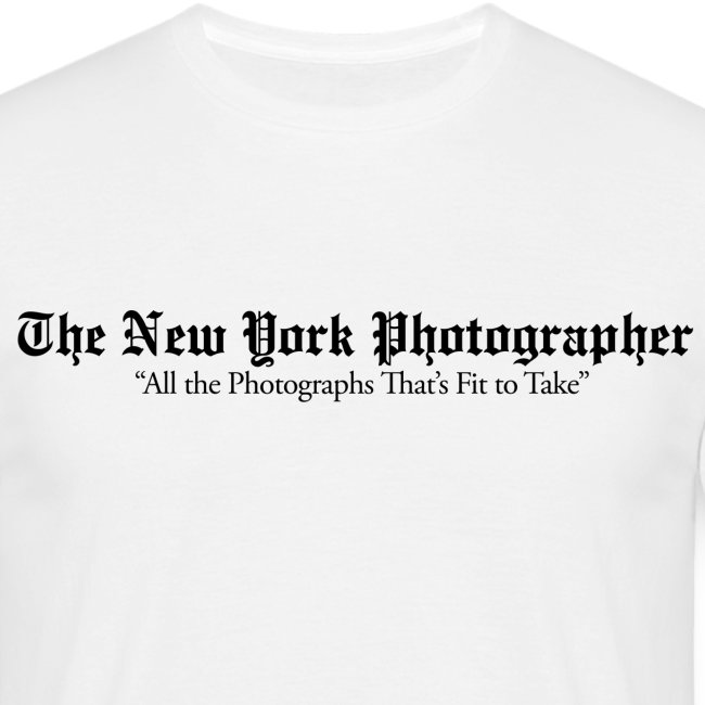 The New York Photographer (façon New York Times)