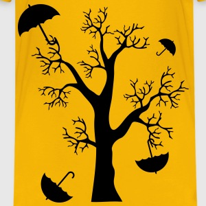 Paraply i træ - Autumn Wind - Illustration Børne T-shirts - Teenager premium T-shirt