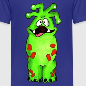 Grünes Monster Kinder T-Shirts - Teenager Premium T-Shirt