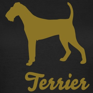Terrier - Gold auf Chocolate - Edel - Frauen T-Shirt