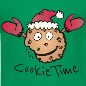 Kelly green cookie time shirts teenage premium t shirt